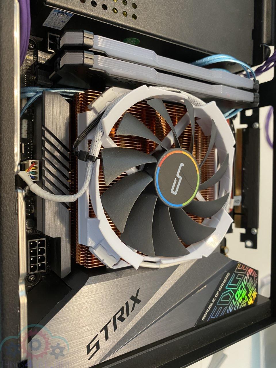 Cryorig C7cu + Strix z390i - side view
